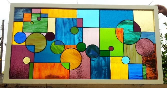 Custom Stained Glass Transom Windows For Sale Baltimore Terraza