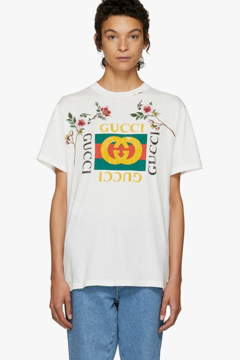 1481e56bf56e Flowers Bloom on The Gucci Logo Tee You ve Been Seeing Everywhere ...