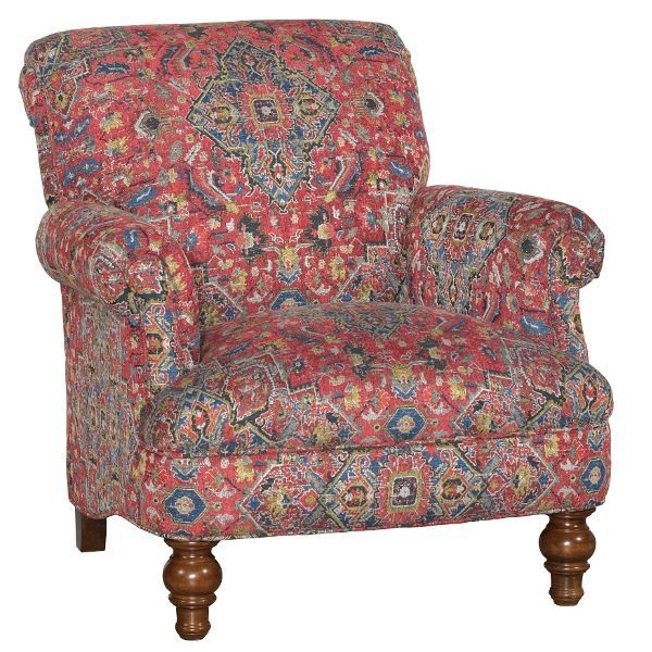 Red Blue Accent Chair Lenora