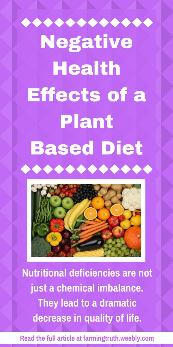 plant based diets negaive