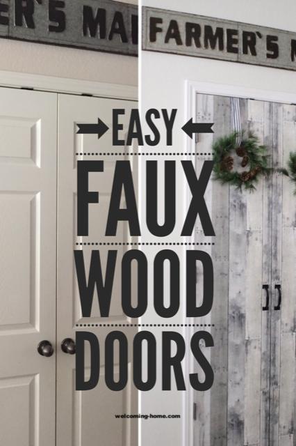 Kitchen Faux Wooden Door Target Farmhouse Decor Farmhouse Style Peel And Stick Wallpaper Reclaimed Wood Idea Wood Closet Doors Wooden Doors Faux Wood Wall