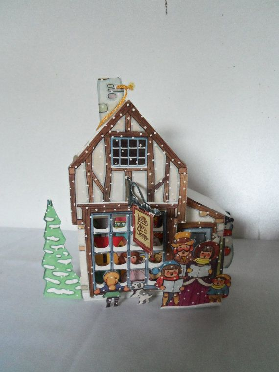 Vintage Paper Candy Container Toy Shop Carolers by berryetsy, $5.99