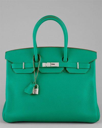 c8ae05fbb3e0 Hermes Green Togo Leather Birkin 35cm. Hermes Green Togo Leather Birkin 35cm  Expensive Purses