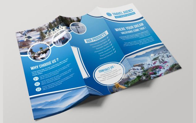 Tri Fold Travel Agency Brochure Template | Brochures | Pinterest