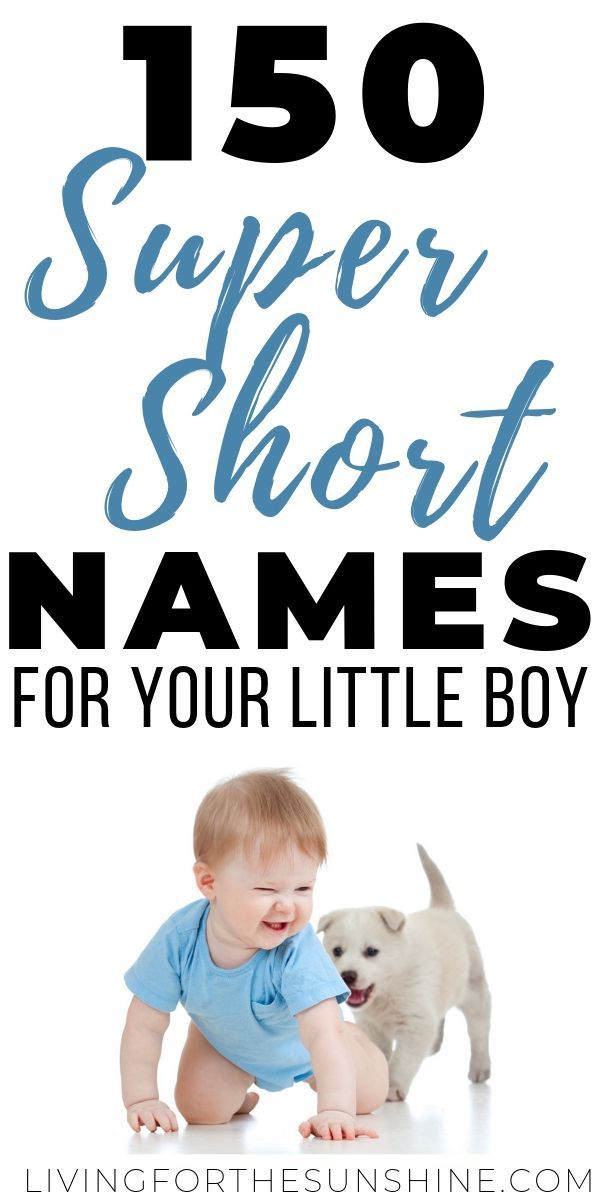 Three Letter Names for Boys That You'll Fall in Love With - Living For the Sunshine