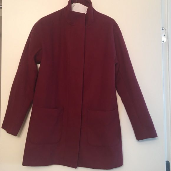 Old Navy Wine Colored Pea Coat