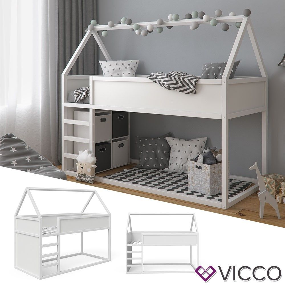 Vitalispa Haus Hochbett Pinocchio Spielbett Hausbett Kinderbett