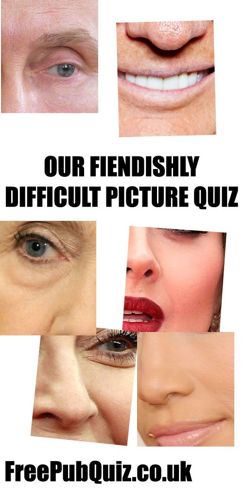 PICTURE QUIZ - Fiendishly difficult picture quiz from the Free Pub Quiz Team. Only parts of the ...