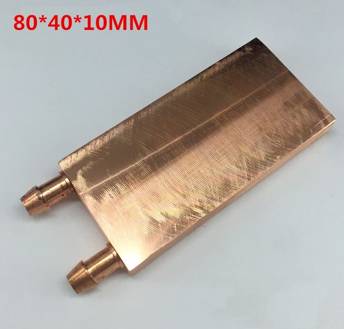 40 80 10mm Computer Mirror Surface Copper Water Cooling Cooler