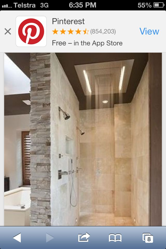 Beautiful walk in shower