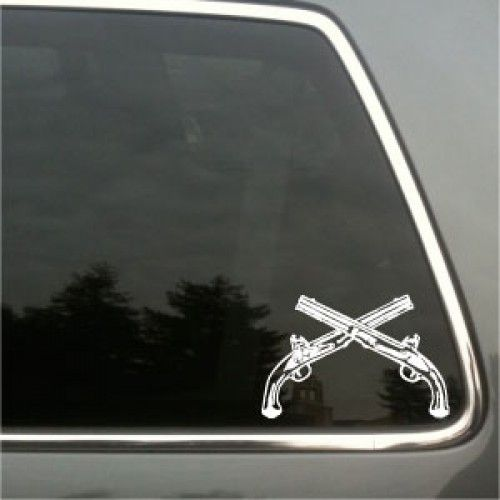 MP Crossed Pistols | Laced Up Decals | Vinyl Decals & Stickers