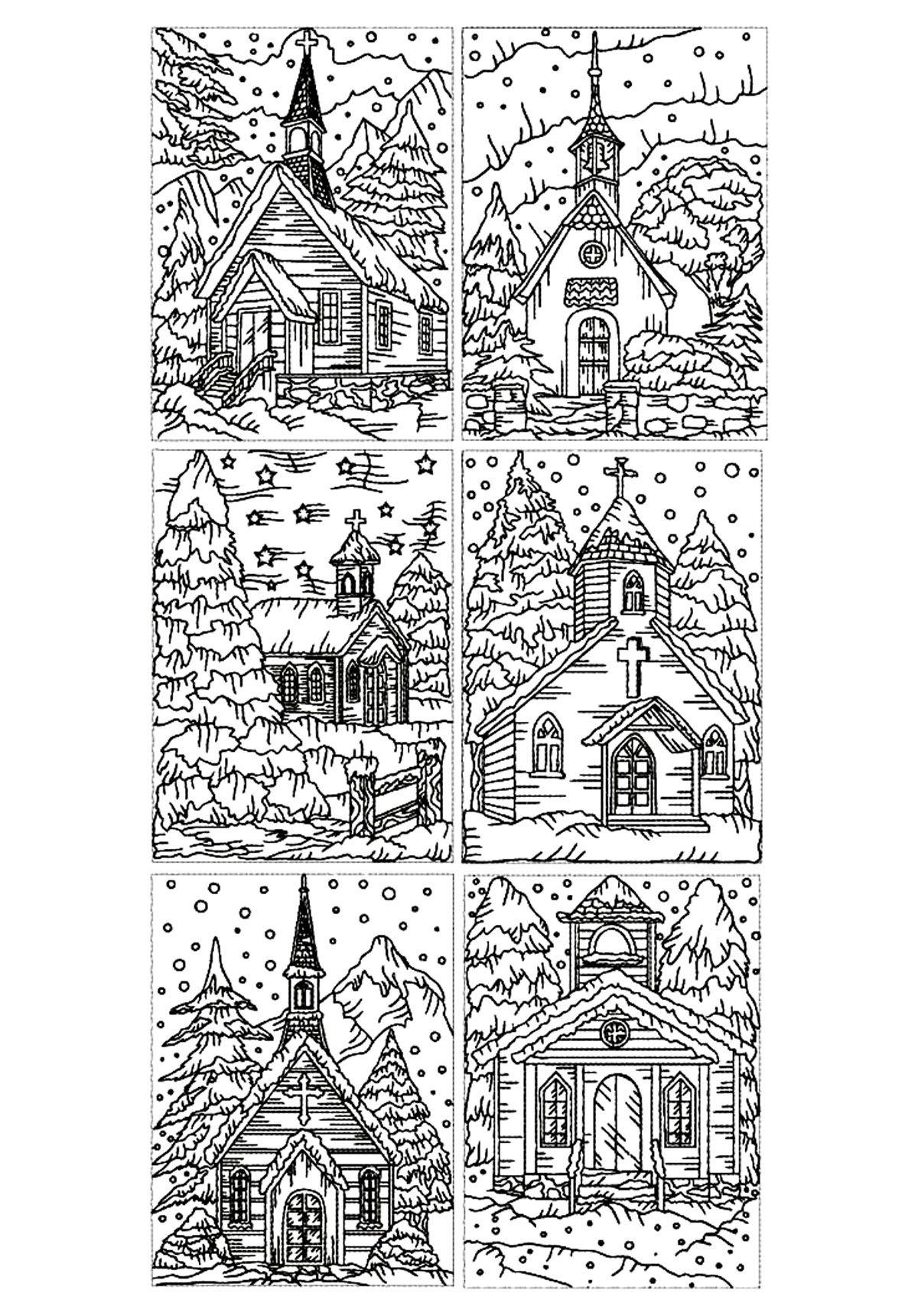 Coloriage Adulte Eglise.Galerie De Coloriages Gratuits Coloriage Adulte Architecture Eglises
