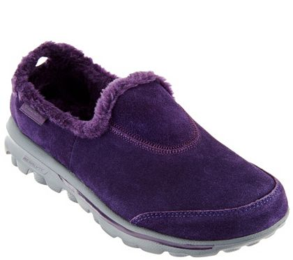 lista nueva mejor elección los Angeles Skechers GOwalk Suede Faux Fur Shoes w/ Memory Form Fit - Comfy ...