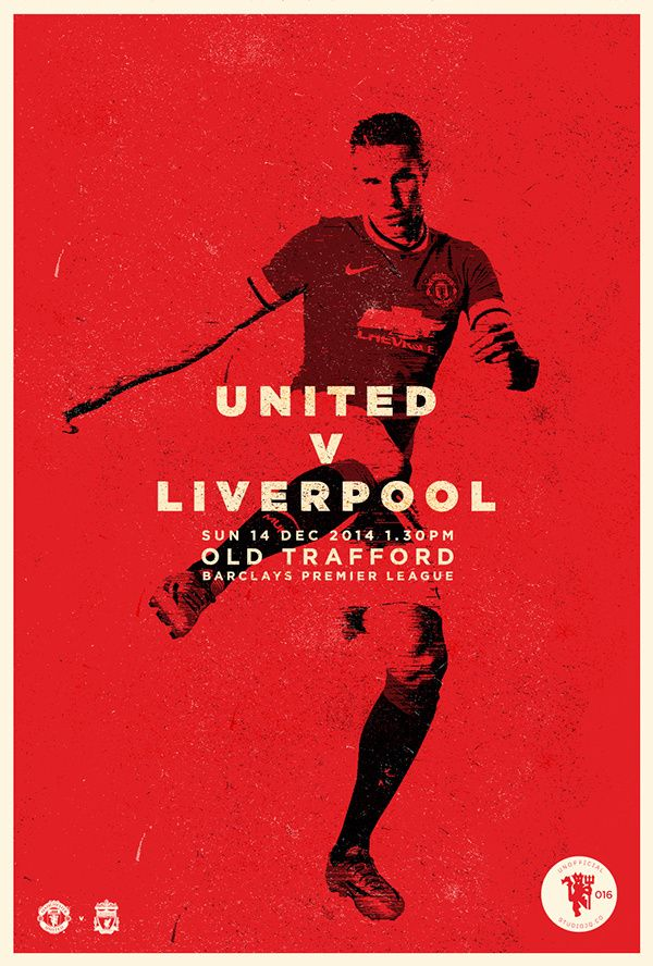 U N I T E D Match Day Posters On Behance Soccer Type Abstract Art Texture Player Manchester United Print Red Footbal The Unit Sports Images Poster On