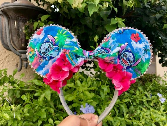 Lilo And Stitch Inspired Mouse Ears. Experiment Mouse Ears #liloandstitch