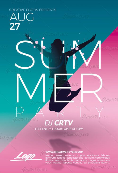 summer party flyer psd templates creative flyers flyer template