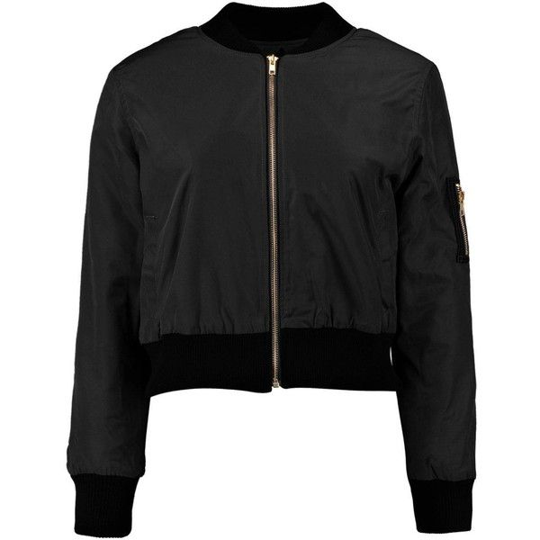 Kim MA1 Bomber Jacket (€30) ❤ liked on Polyvore featuring outerwear, jackets, tops, wrap jacket, flight jacket, blouson jacket, bomber jacket and bomber style jacket