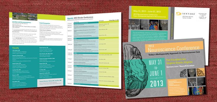 36 Awesome Conference Program Booklet Images | Brochure Design
