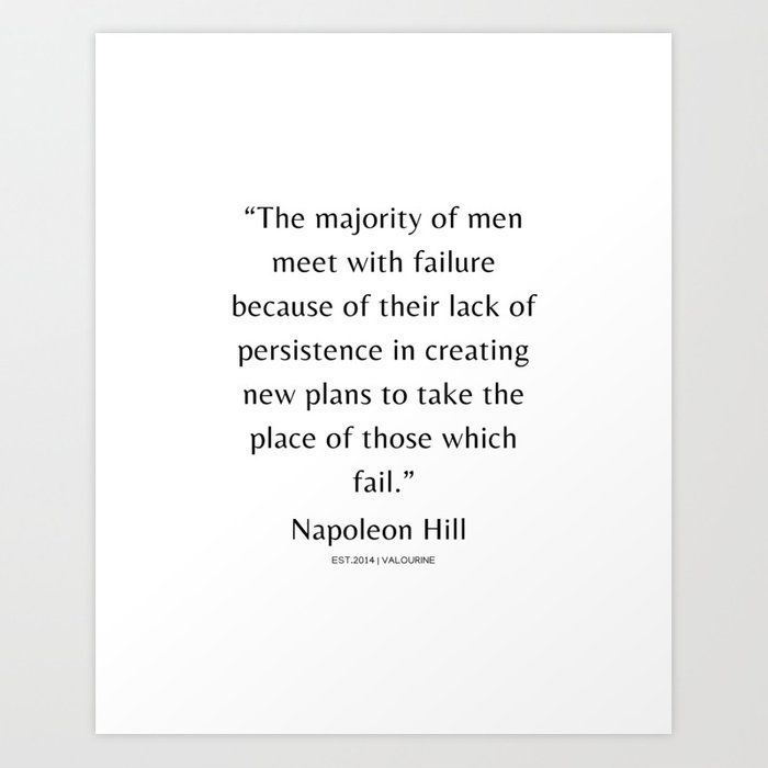28 | Napoleon Hill Quotes| 210104| Success Business Inspiring Manifesting Affirmation Motivational Art Print by Wordz