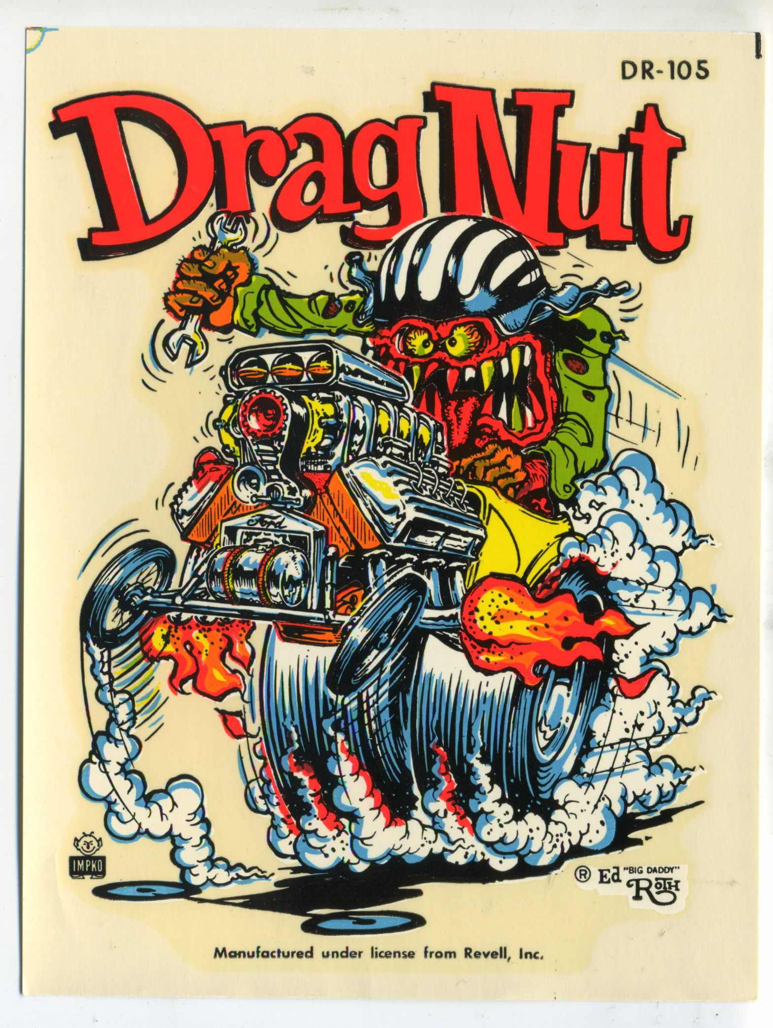 American Hippie Art Rat Fink Ed Roth . Drag Nut Rats