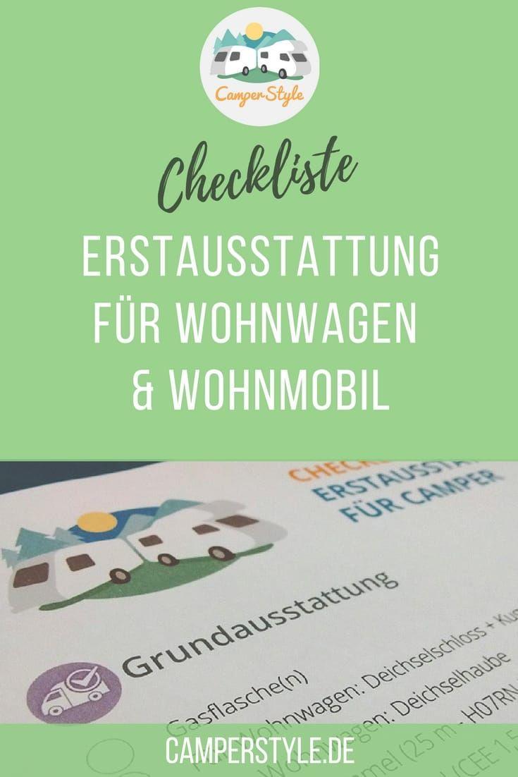 Photo of Checkliste: Erstausstattung für Wohnwagen & Reisemobile