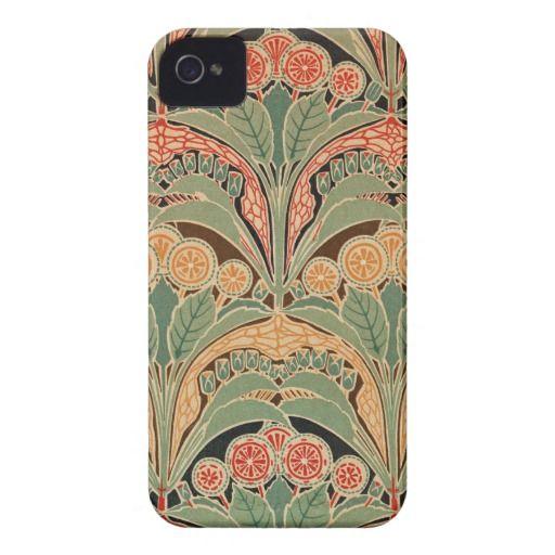 Art Nouveau Pattern #4 at Emporio Moffa iPhone 4 Case-Mate Cases
