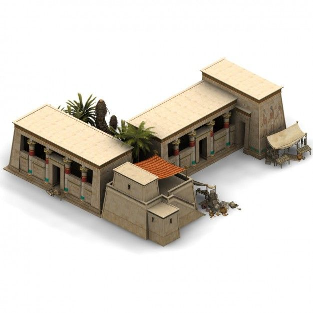 Ancient egypt model house