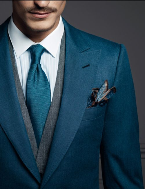 Almost Like A Dark Teal Instead Of Blue And I It Lot Simple Color Scheme With Gray Vest Is Perfect For All Suits