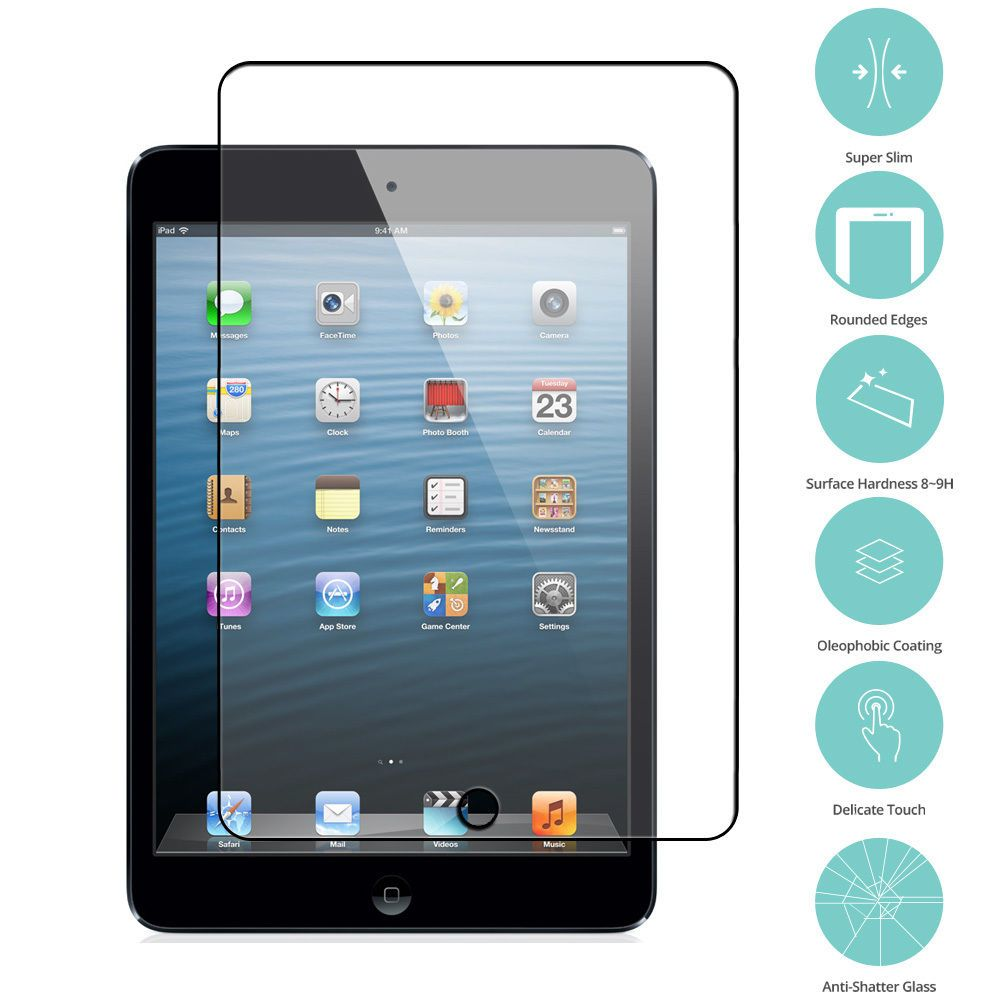 High Quality Premium Tempered Glass Screen Protector for iPad Mini 1//2//3