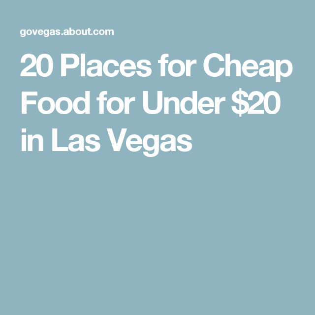 Cheap Food Places On The Strip