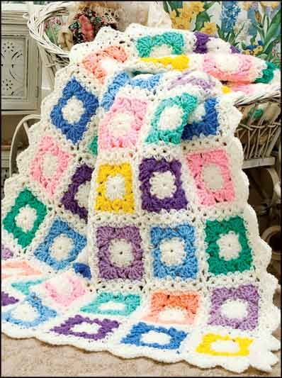 Annie\'s Attic Scrap Baby Afghan Pattern Book available on website e ...