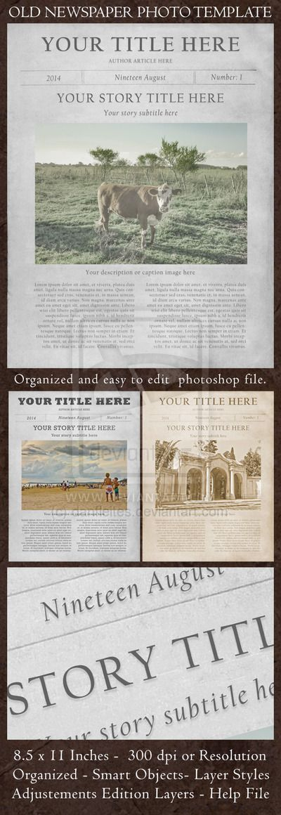 Old Newspaper Page Photo Template FX Mockup on Behance freepress