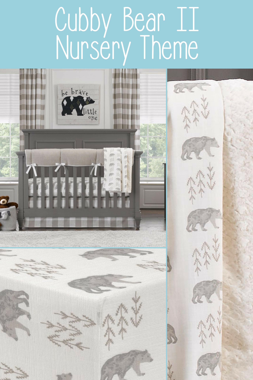 Cubby II (Taupe) Bear Crib Bedding
