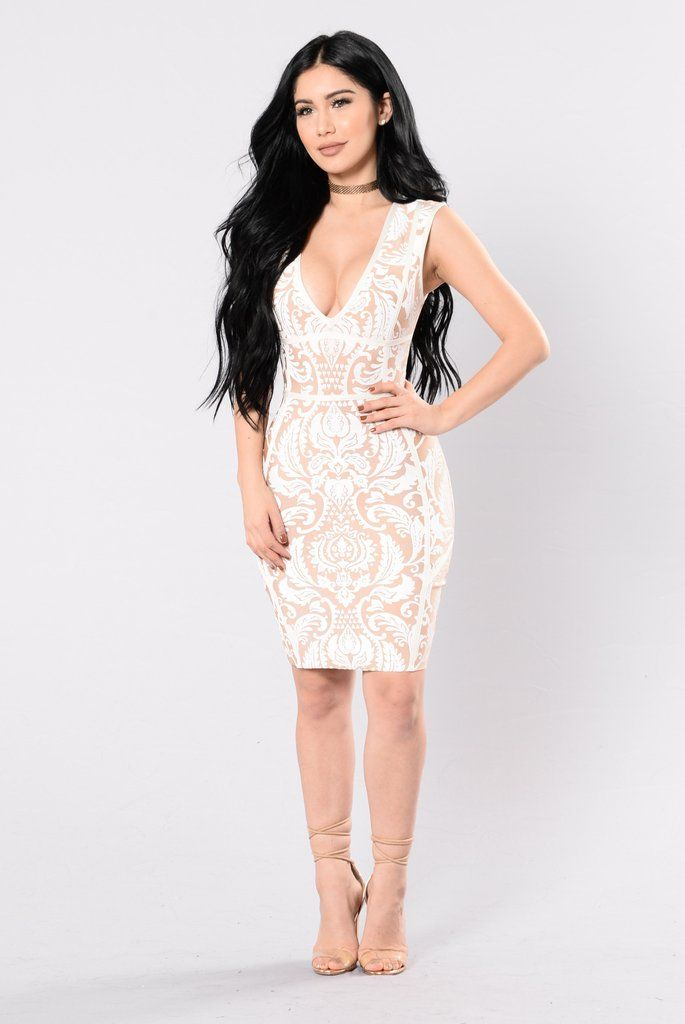 Falling In Lust Dress - Taupe/Ivory | Pinterest