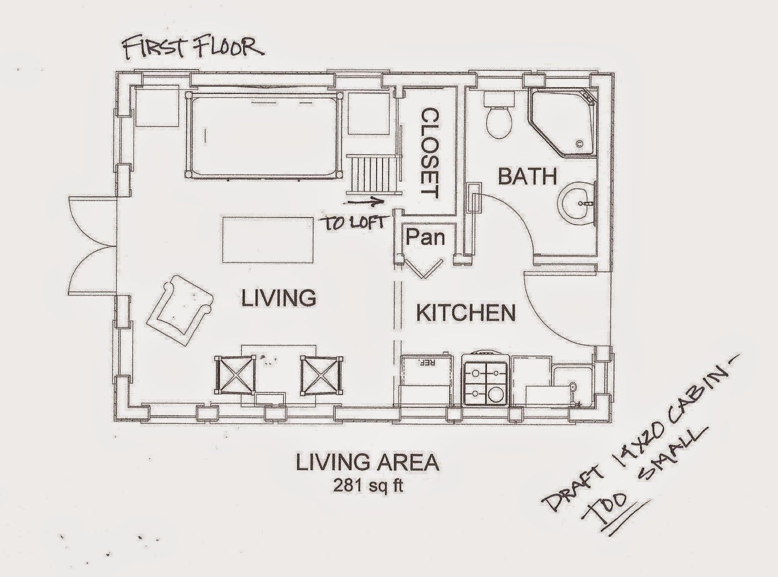 14x20 Tiny House Plans Elegant Dancing Dog Cabin Designing