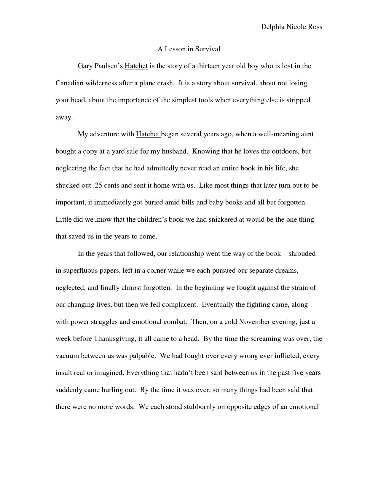 Hatchet Gary Paulsen Book Summary