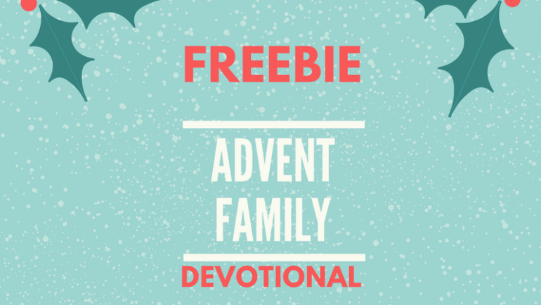 Share this FREE family advent devotional with parents of