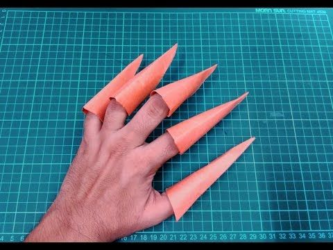 Schoolyard Origami, Part 2 | Paper claws, Origami claws, Paper ... | 360x480