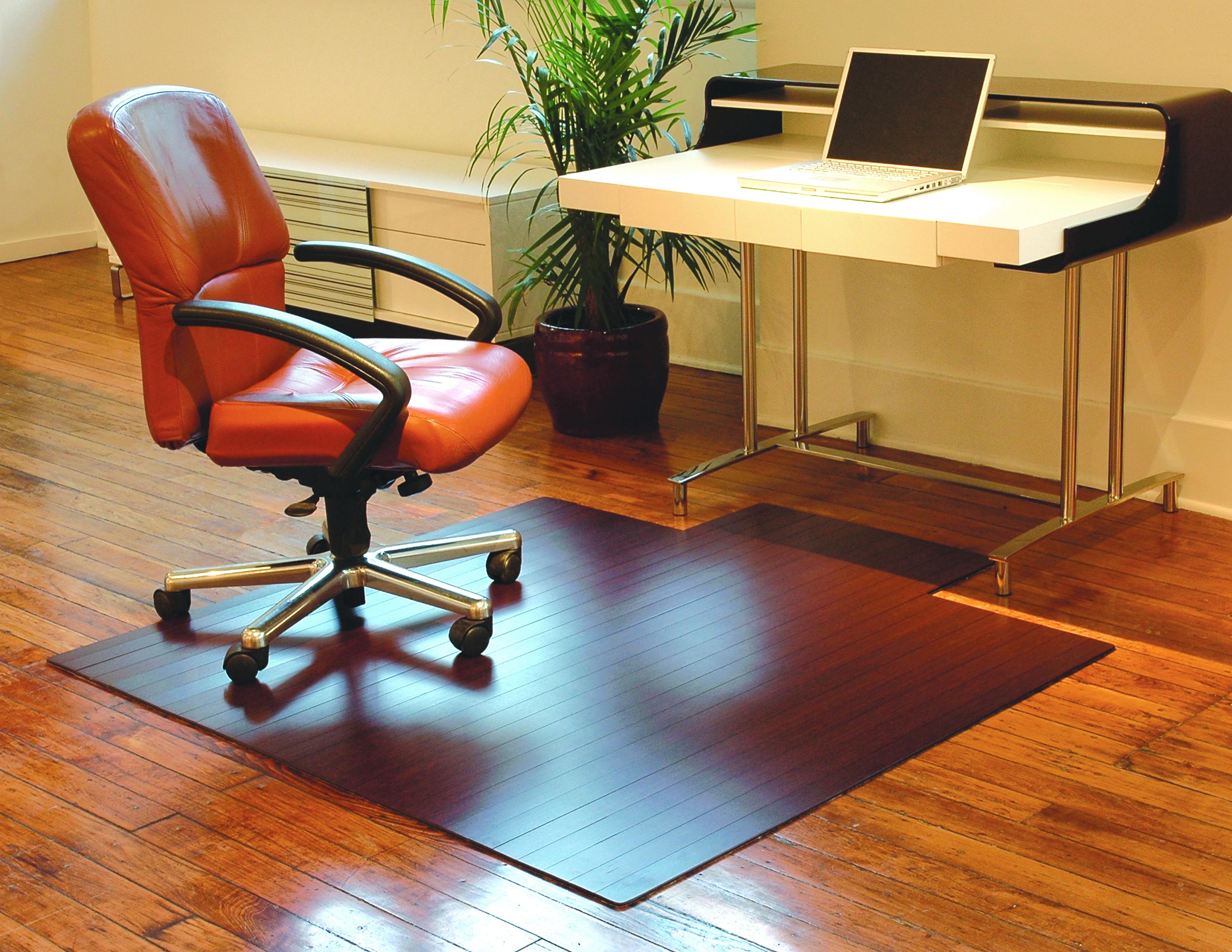 Dark Cherry Bamboo Rollup Chairmats 8mm