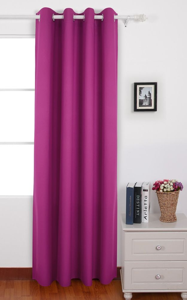 New Deconovo Solid Color Thermal Curtain Panel Insulated Window With Backs