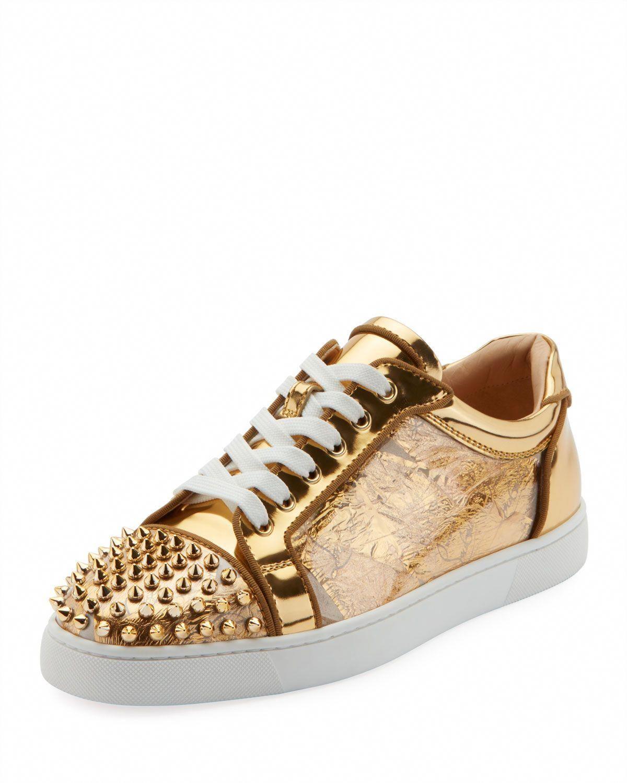 04306cff6fa1 CHRISTIAN LOUBOUTIN MEN S SEAVASTE SPIKE LOW-TOP SNEAKERS.   christianlouboutin  shoes