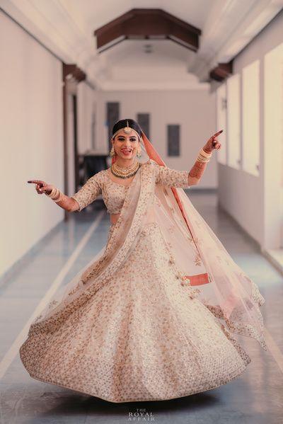 adb47e9b4aa3 Sangeet/ Engagement Lehegas - Soft Pink Embroidered Lehenga with Double  Dupatta   WedMeGood #wedmegood #indianbride #indianwedding #bridal #lehenga  #pink ...