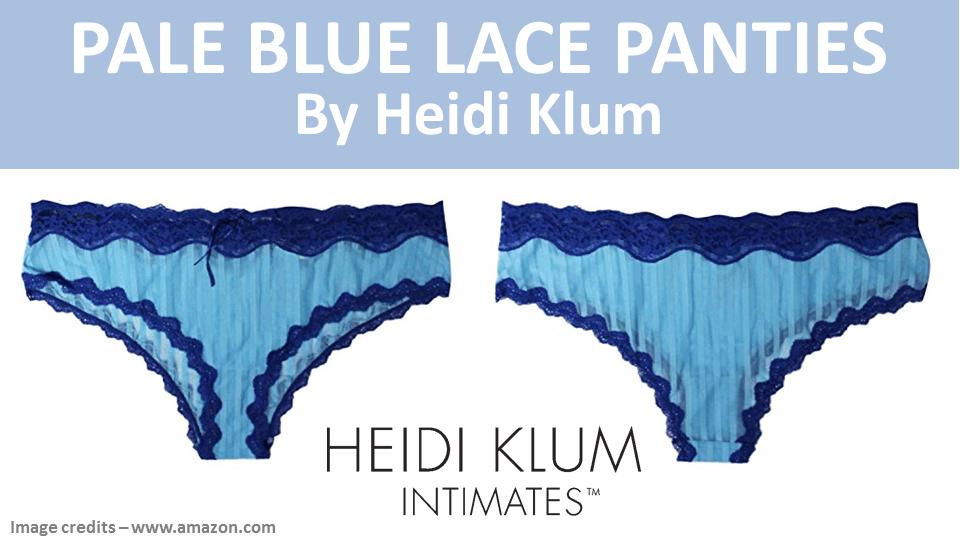0ace15225c Not Cheap - These  HeidiKlum Pale  Blue  Lace  Panties - But worth it!