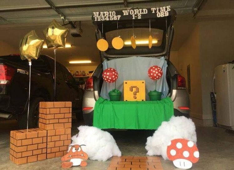 Mario Trick or Trunk Halloween stuff Pinterest Halloween 2017 - decorate cubicle for halloween