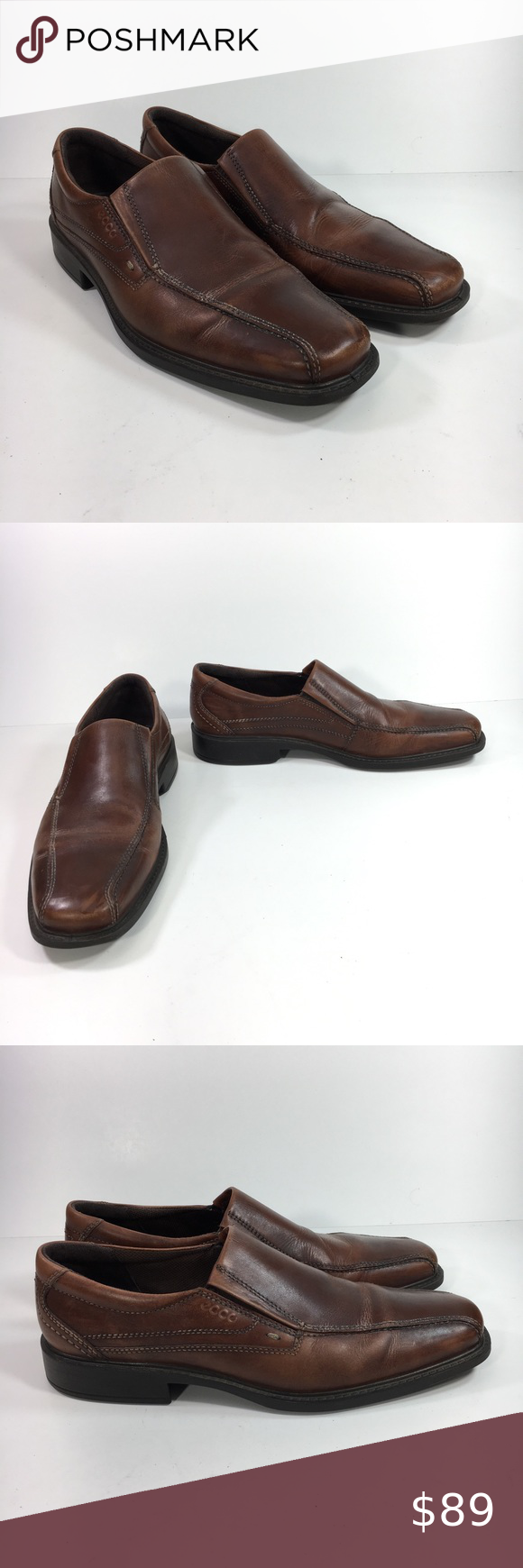 e96a2742b649 Ecco Light Shock Point Men s 45 US 11-11.5 Loafers Ecco Light Shock Point  Men s 45 US 11 - 11.5 Brown Leather Slip On Loafer Shoes Preowned in good  ...