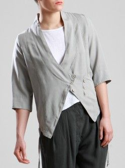 LYOCELL JACKET WITH UNEVEN DYE
