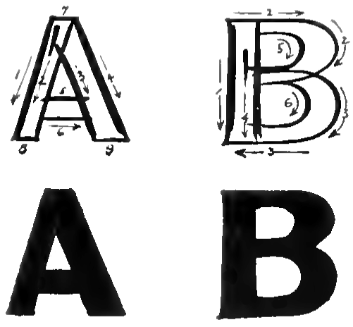 How To Draw Bubble Letters / Block Letters