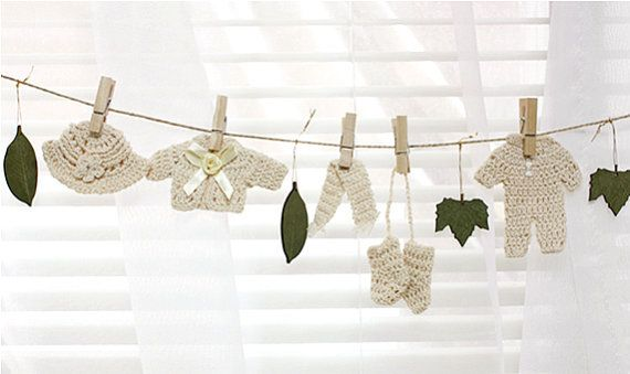 Mini fashion clothing garland decor set