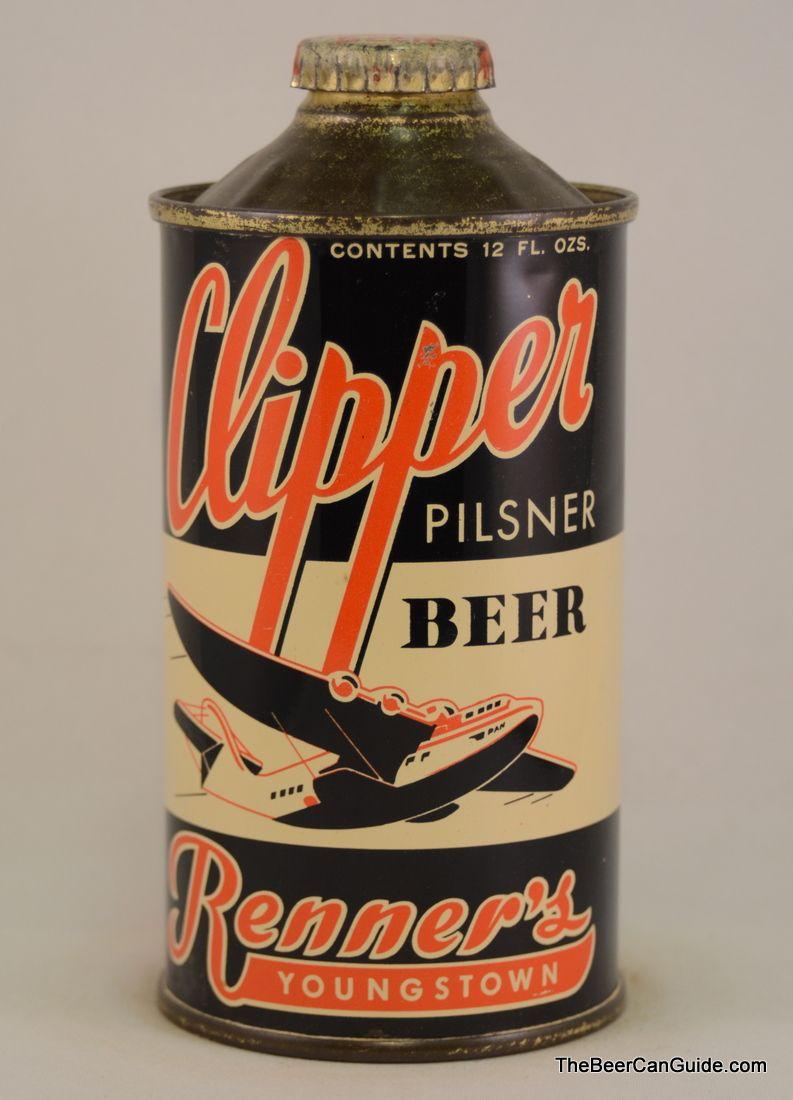 Clipper Pilsner Beer Cone Top Can