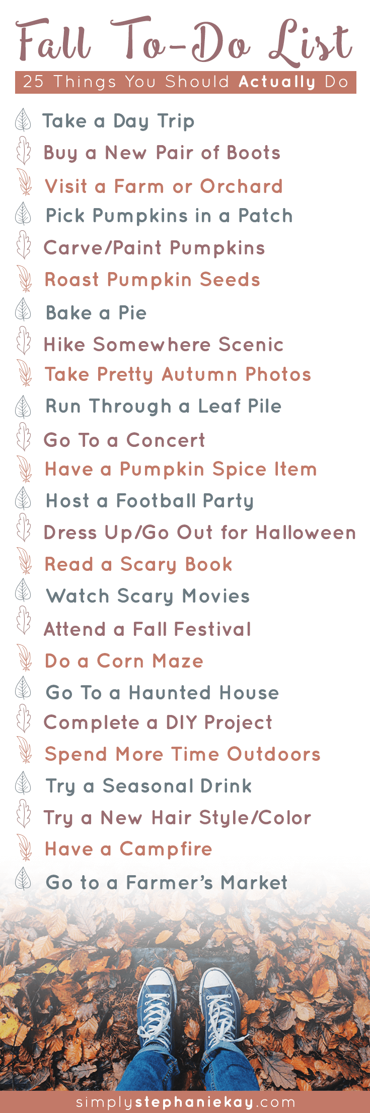 25 Things You Should Actually Do This Fall.